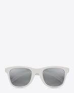 SAINT LAURENT Sunglasses E クラシック SL 51/F サーフ サングラス(シャイニーアイボリー/アセテート製/シルバーレンズ) f