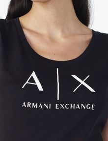 ARMANI EXCHANGE Classic A|X Scoopneck Short Sleeve Tee D e