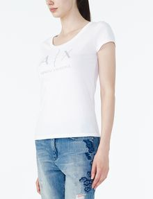 ARMANI EXCHANGE Classic A|X Scoopneck Graphic T-shirt Woman d