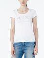ARMANI EXCHANGE Classic A|X Scoopneck Graphic T-shirt Woman f