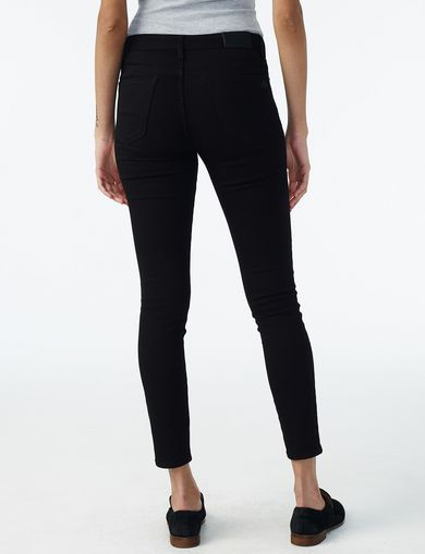 Pure Black Super-Skinny Jean