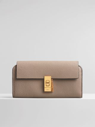 Drew long wallet with flap