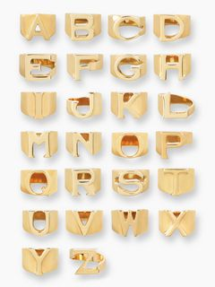 Chloé Alphabet Ring S, Women's Accessories | Chloé Official Website | 2R000SCB7