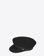 SAINT LAURENT Hats U Sailor Hat in Black Wool f