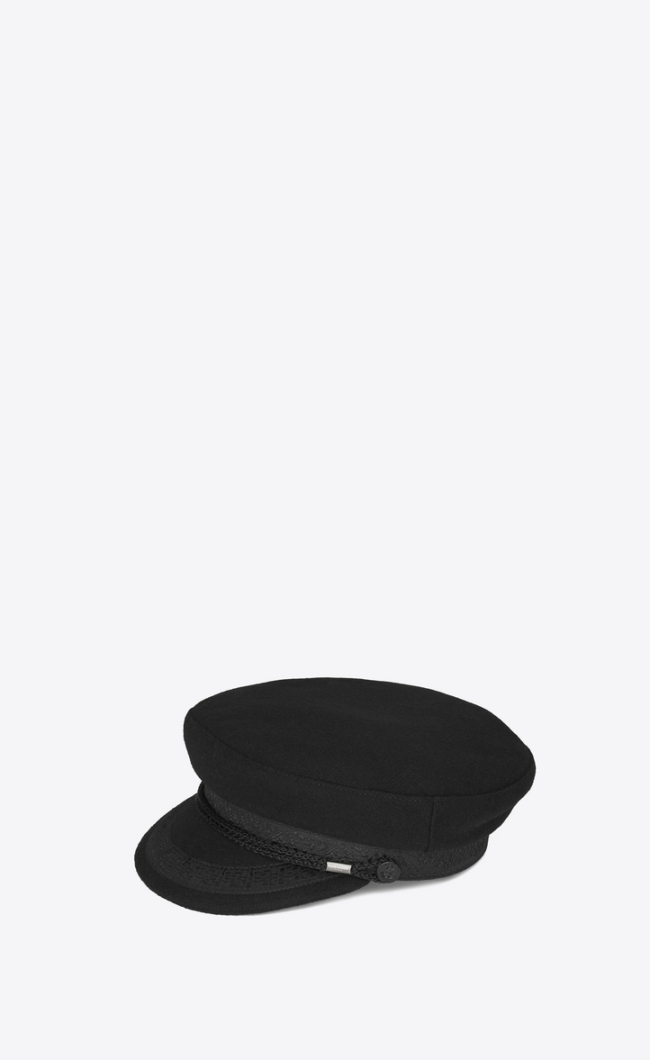 4c1027c6c52 Saint Laurent Sailor Hat In Black Wool