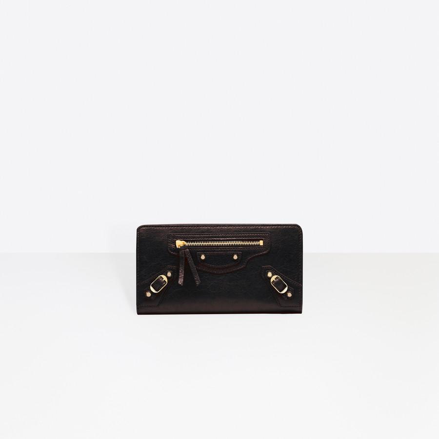 BALENCIAGA Classic Gold Continental Zip Around Classic Continental Wallet D f