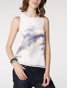 ARMANI EXCHANGE Watercolor Organza Tank Tank top D f