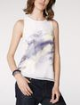 ARMANI EXCHANGE Watercolor Organza Tank Tank top [*** pickupInStoreShipping_info ***] f