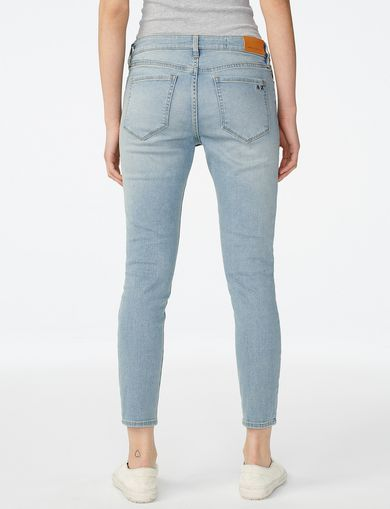 ARMANI EXCHANGE Cropped Light-Wash Skinny Jean Woman retro