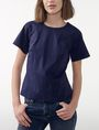ARMANI EXCHANGE Poplin Peplum Top Blouse Woman f