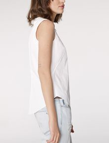 ARMANI EXCHANGE Sleeveless Poplin Blouse Shell D d