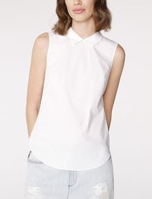 ARMANI EXCHANGE Sleeveless Poplin Blouse Shell D f
