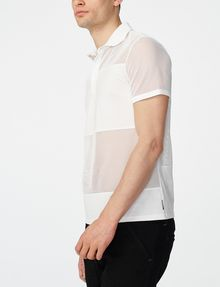 ARMANI EXCHANGE Mesh Mix Polo Short-sleeved polo U d