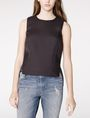 ARMANI EXCHANGE Textured High-Low Shell Shell Woman f
