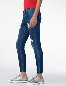 ARMANI EXCHANGE Destructed Crop Skinny Jean Jean D d