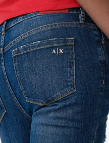 ARMANI EXCHANGE Destructed Crop Skinny Jean Jean D e