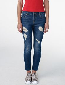 ARMANI EXCHANGE Destructed Crop Skinny Jean Jean D f