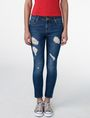 ARMANI EXCHANGE Destructed Crop Skinny Jean Jean Woman f