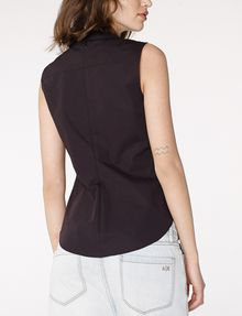 ARMANI EXCHANGE Sleeveless Poplin Blouse Shell Woman r