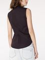 ARMANI EXCHANGE Sleeveless Poplin Blouse Shell D r