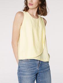 ARMANI EXCHANGE Asymmetric Rounded Hem Tank Shell D d