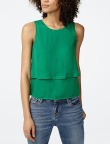 ARMANI EXCHANGE Tiered Button Top Shell D f