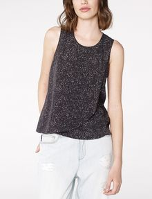 ARMANI EXCHANGE Asymmetric Rounded Hem Tank Shell D f