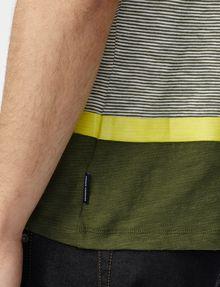 ARMANI EXCHANGE Colorblock Stripe Mix Polo SHORT SLEEVES POLO U e