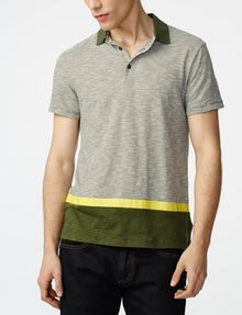 ARMANI EXCHANGE Colorblock Stripe Mix Polo Short-sleeved polo U f