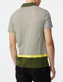 ARMANI EXCHANGE Colorblock Stripe Mix Polo SHORT SLEEVES POLO Man r
