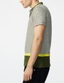 ARMANI EXCHANGE Colorblock Stripe Mix Polo Short-sleeved polo U d