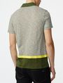 ARMANI EXCHANGE Colorblock Stripe Mix Polo Short-sleeved polo U r