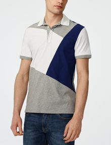 ARMANI EXCHANGE Diagonal Colorblock Polo Short-sleeved polo U f