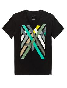 ARMANI EXCHANGE Campfire Logo Tee Graphic T-shirt Man d