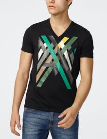 ARMANI EXCHANGE Campfire Logo Tee Graphic T-shirt Man f
