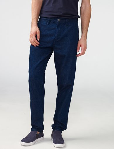 ARMANI EXCHANGE Scatterweave Drop-Fit Tapered Jean Man front