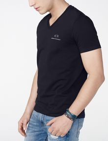 ARMANI EXCHANGE Signature A|X V-Neck Short Sleeve Tee Man d