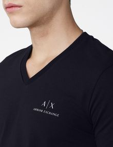 ARMANI EXCHANGE Signature A|X V-Neck Short Sleeve Tee Man e