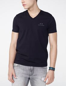 ARMANI EXCHANGE Signature A|X V-Neck Short Sleeve Tee Man f