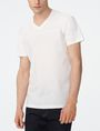 ARMANI EXCHANGE Mixed-Media Paneled V-Neck Short Sleeve Tee U f