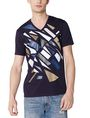 ARMANI EXCHANGE Broken Mirror Logo Tee Graphic T-shirt U f
