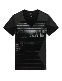 ARMANI EXCHANGE Tonal Stripe Tee Graphic T-shirt Man d