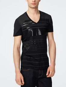 ARMANI EXCHANGE Tonal Stripe Tee Graphic Tee U f