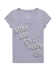 ARMANI EXCHANGE Stacked Logo Tee Short Sleeve Tee Woman d