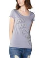 ARMANI EXCHANGE Stacked Logo Tee Short Sleeve Tee Woman f