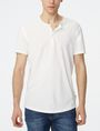 ARMANI EXCHANGE Short-Sleeve Seamed Arm Henley Short sleeve shirt [*** pickupInStoreShippingNotGuaranteed_info ***] f