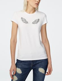 ARMANI EXCHANGE Sequin Wings Tee Short Sleeve Tee Woman f