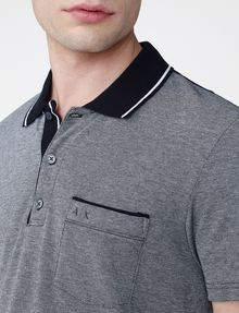 ARMANI EXCHANGE Bicolor Pique Pocket Polo Short-sleeved polo U e