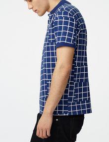 ARMANI EXCHANGE Broken Grid Printed Polo Short-sleeved polo U d
