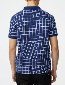 ARMANI EXCHANGE Broken Grid Printed Polo Short-sleeved polo U r
